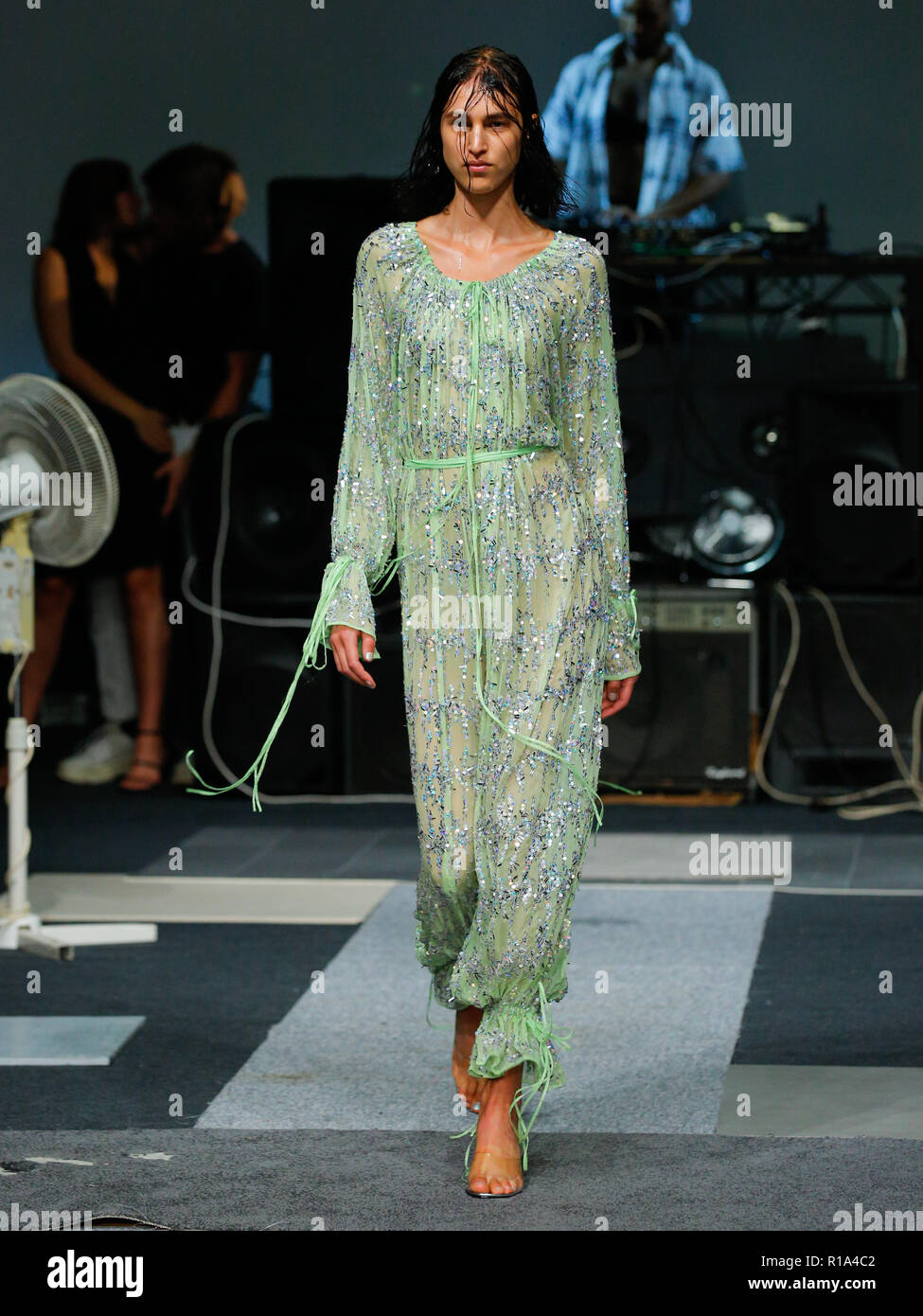British Designer Ashish Catwalk At London Fashion Week Summer Spring 2019 Ss19 British Fashion Council Venue At Strand 180 Stock Photo Alamy