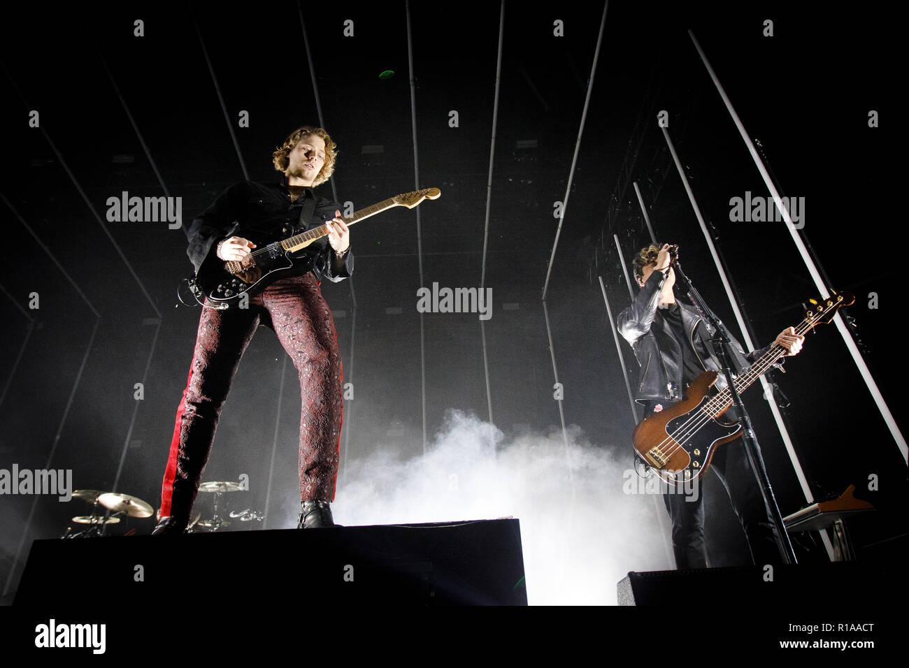 Denmark Copenh November 8 2018 The Australian Pop Rock Band 5 Seconds Of Summer Performs A Live Concert At Forum Black Box In Copenh