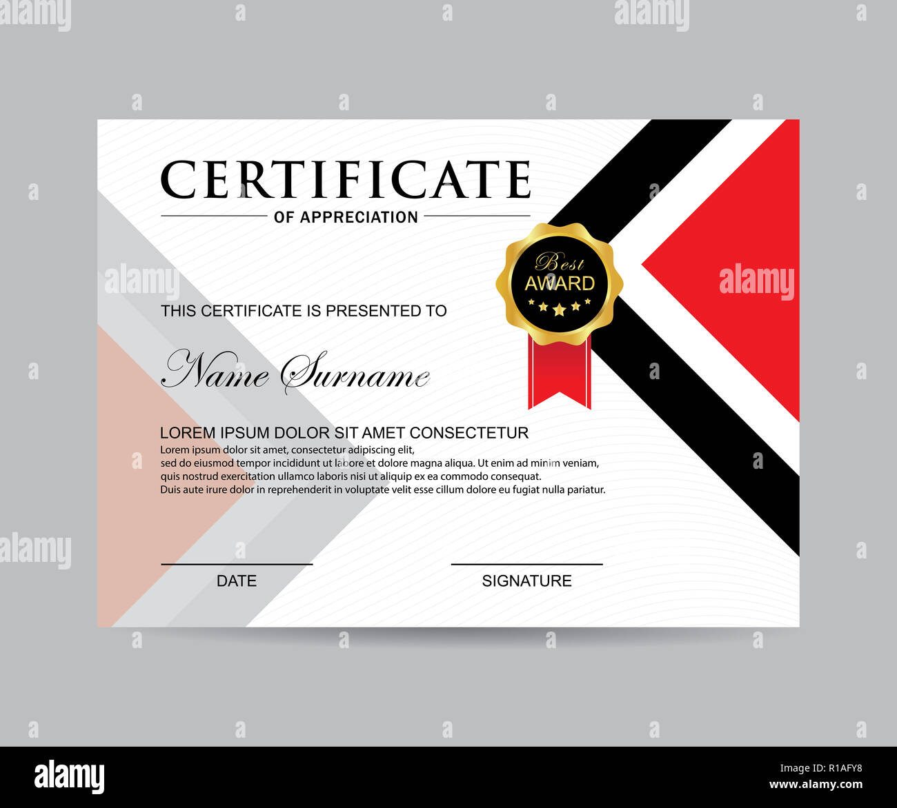 Modern Certificate Template And Background Stock Photo 224581484