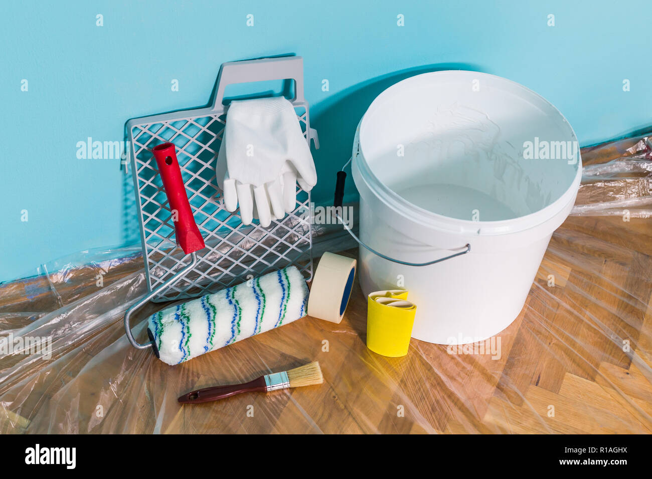 Image Of Equipment For Painting Wall Stock Photo 224582006 Alamy