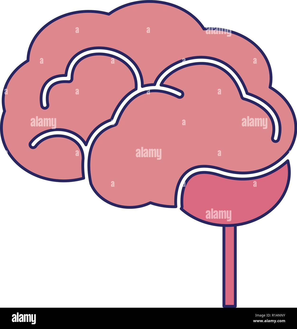 Human brain simple symbol vector illustration graphic design