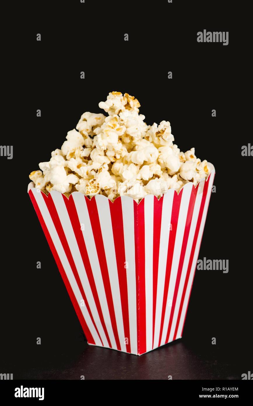 Box of Popcorn Isolated - Stock Image