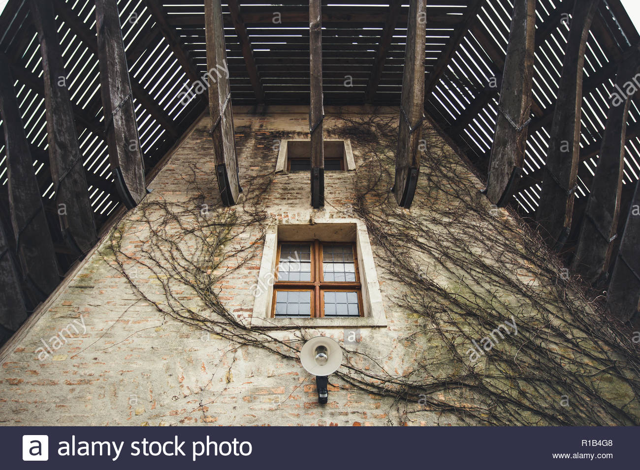Old wooden windmill in Potsdam - Stock Image