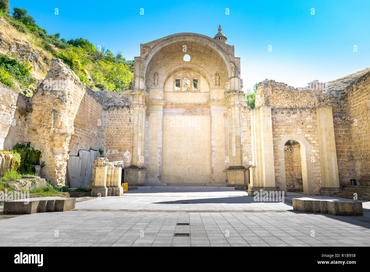 the ancient ruins which were the start of the creation of the town of Cazorla, Spain - Stock Image