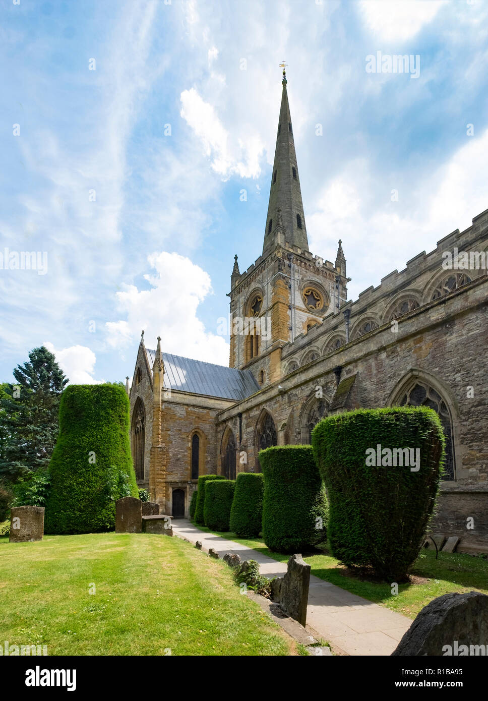 Holy Trinity Church, Straford Upon Avon, UK. The chuch which is home to Shakespeare's grave. - Stock Image