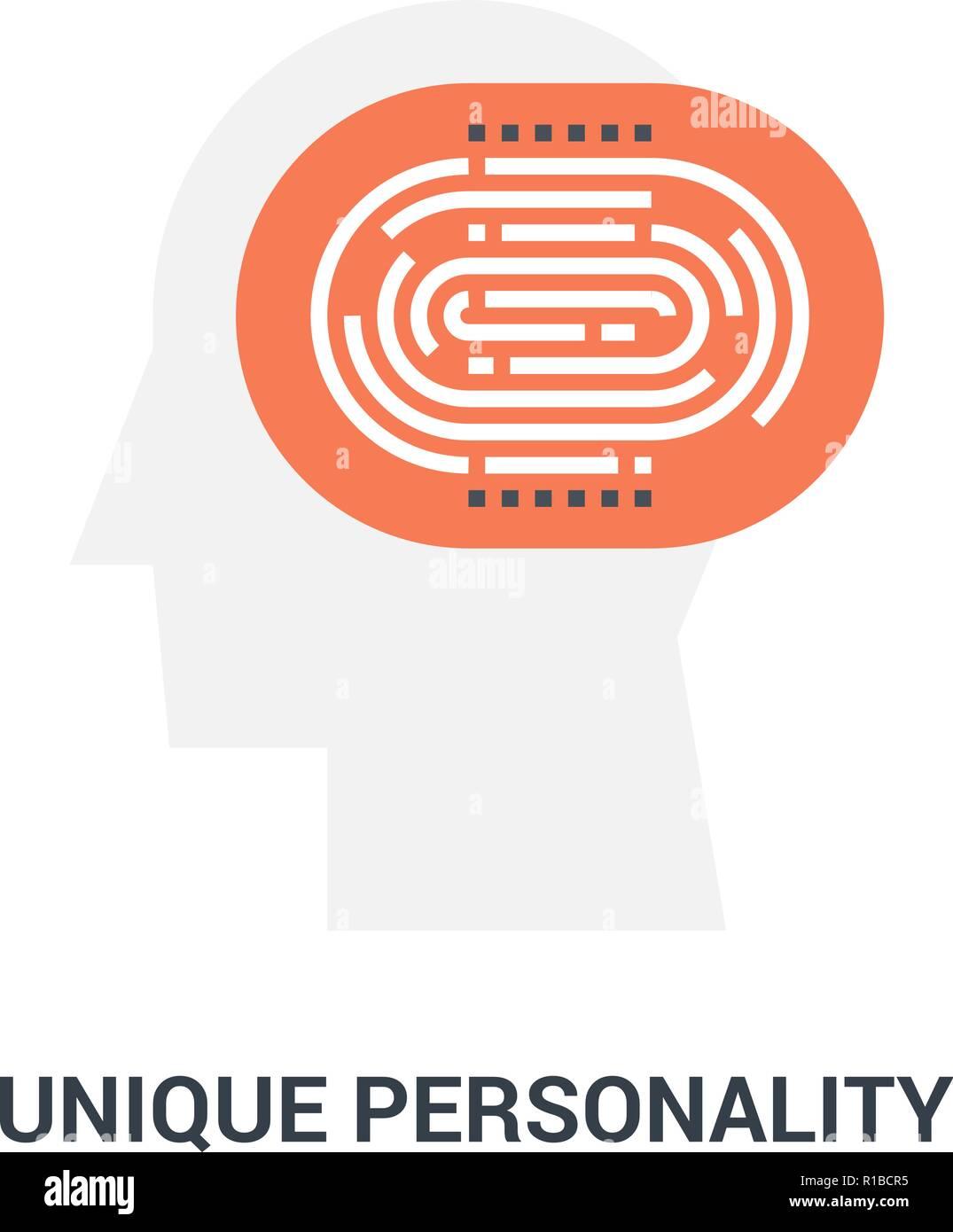 unique personality icon concept - Stock Image