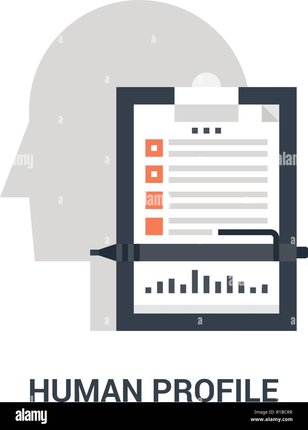 human profile icon concept - Stock Image