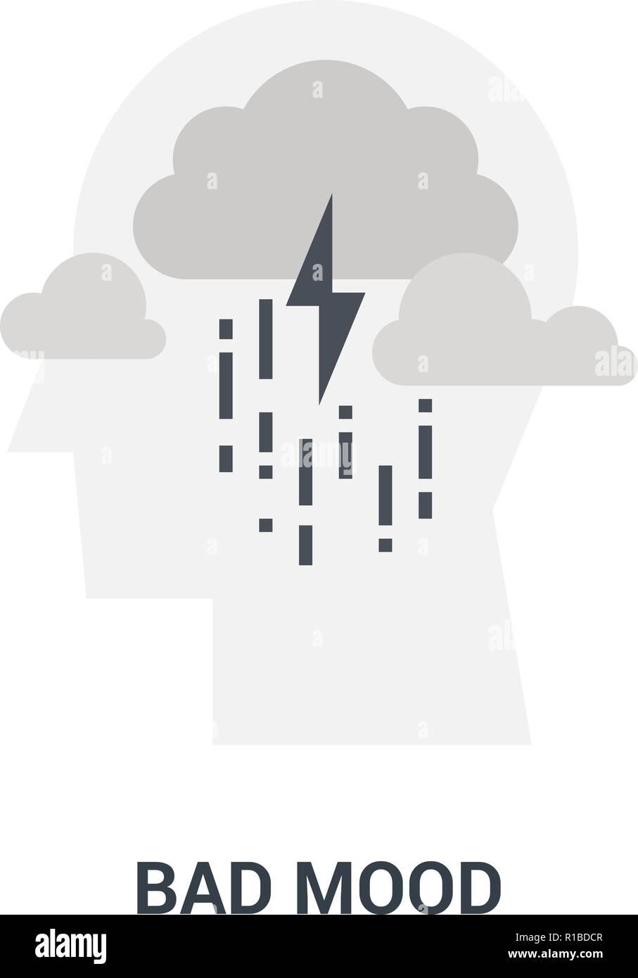 bad mood icon concept - Stock Vector