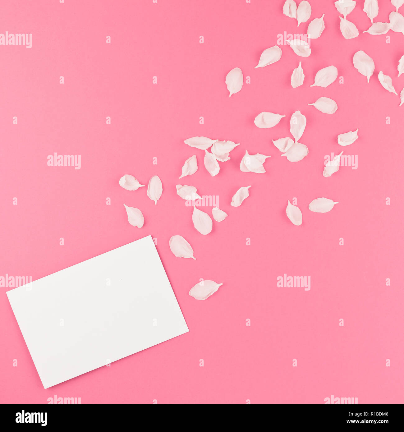 Creative Flat Lay Concept Top View Of Blank Letter Mock Up And