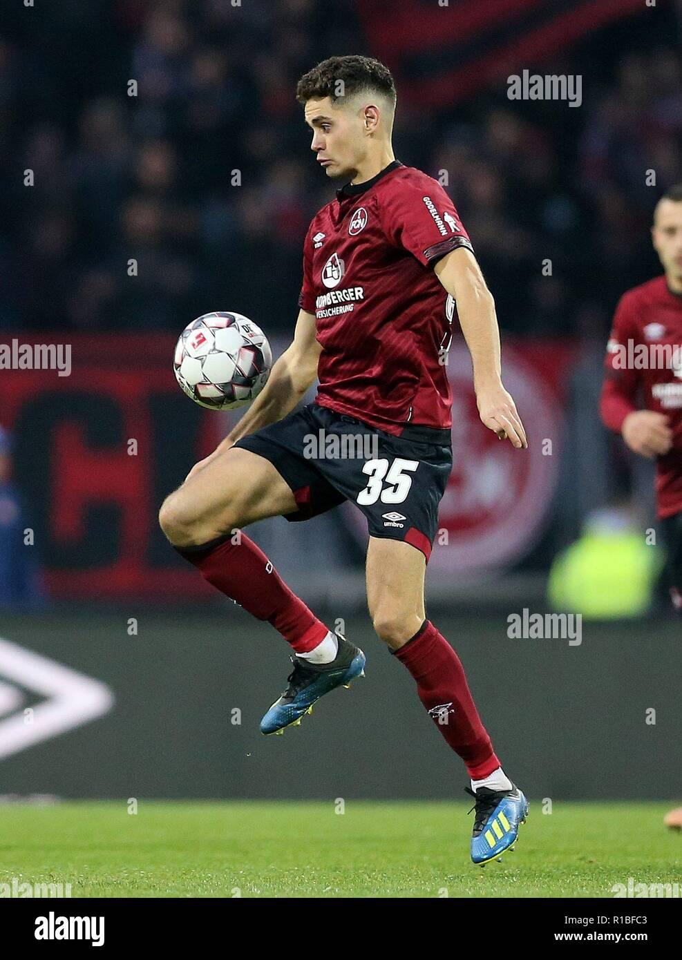 firo: 10.11.2018, Fuvuball, 1.Bundesliga, season 2018/2019, 1.FC Nvrnberg - VFB Stuttgart 0: 2, Alexander Fuchs, 1.FC Nvrnberg, FCN, Nvrnberg, single action | usage worldwide - Stock Image