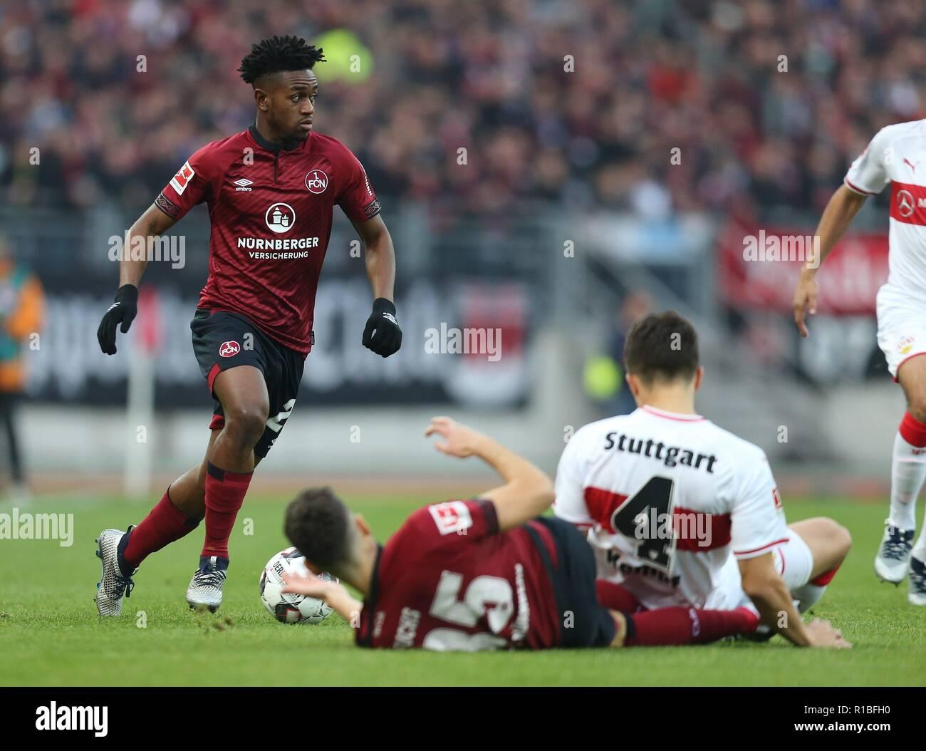 firo: 10.11.2018, Fuvuball, 1.Bundesliga, season 2018/2019, 1.FC Nvrnberg - VFB Stuttgart 0: 2, Virgil Misidjan, 1.FC Nvrnberg, FCN, Nvrnberg, whole figure | usage worldwide - Stock Image