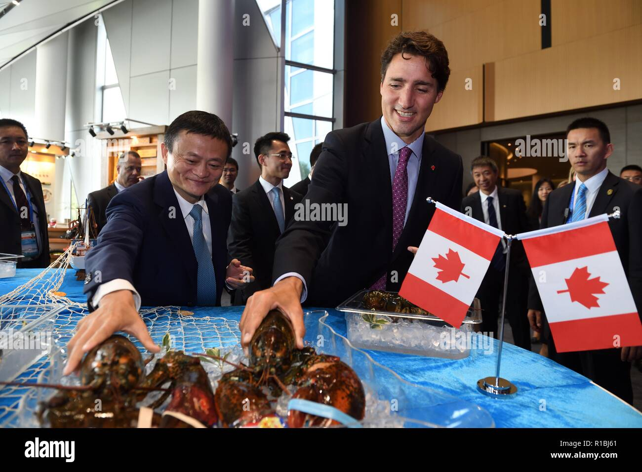 Beijing China 3rd Sep 2016 File Photo Taken On Sept 3 2016 Shows Canadian Prime Minister Justin Trudeau And Alibaba Chairman Jack Ma Grabbing Lobsters Imported From Canada At The Headquarters Of Free, fast and easy way find a job of 111.000+ postings in canada and other big cities in canada. alamy