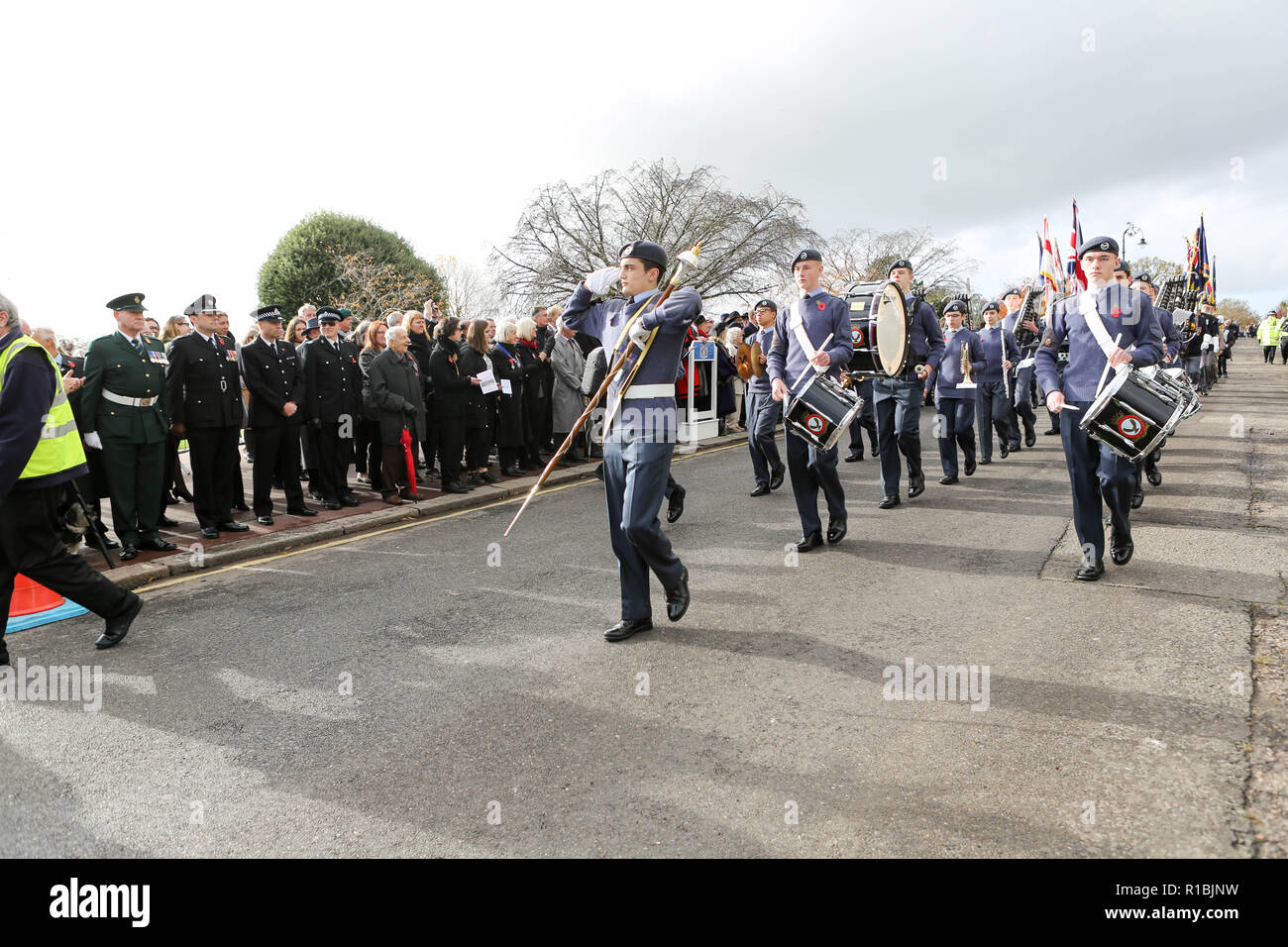 Southend on Sea, UK. 11th Nov, 2018. The Parade starts at Prittlewell Square and proceeds to Southend Cenotaph for a Service of Remembrance at 11am. Penelope Barritt/Alamy Live News Stock Photo