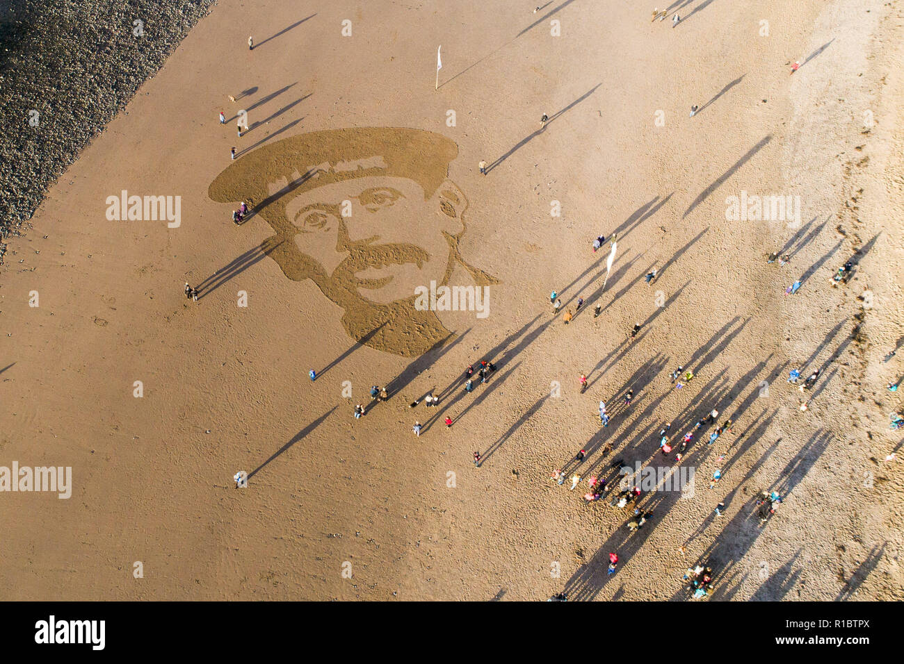Ynyslas Wales UK, 11/11/2018.