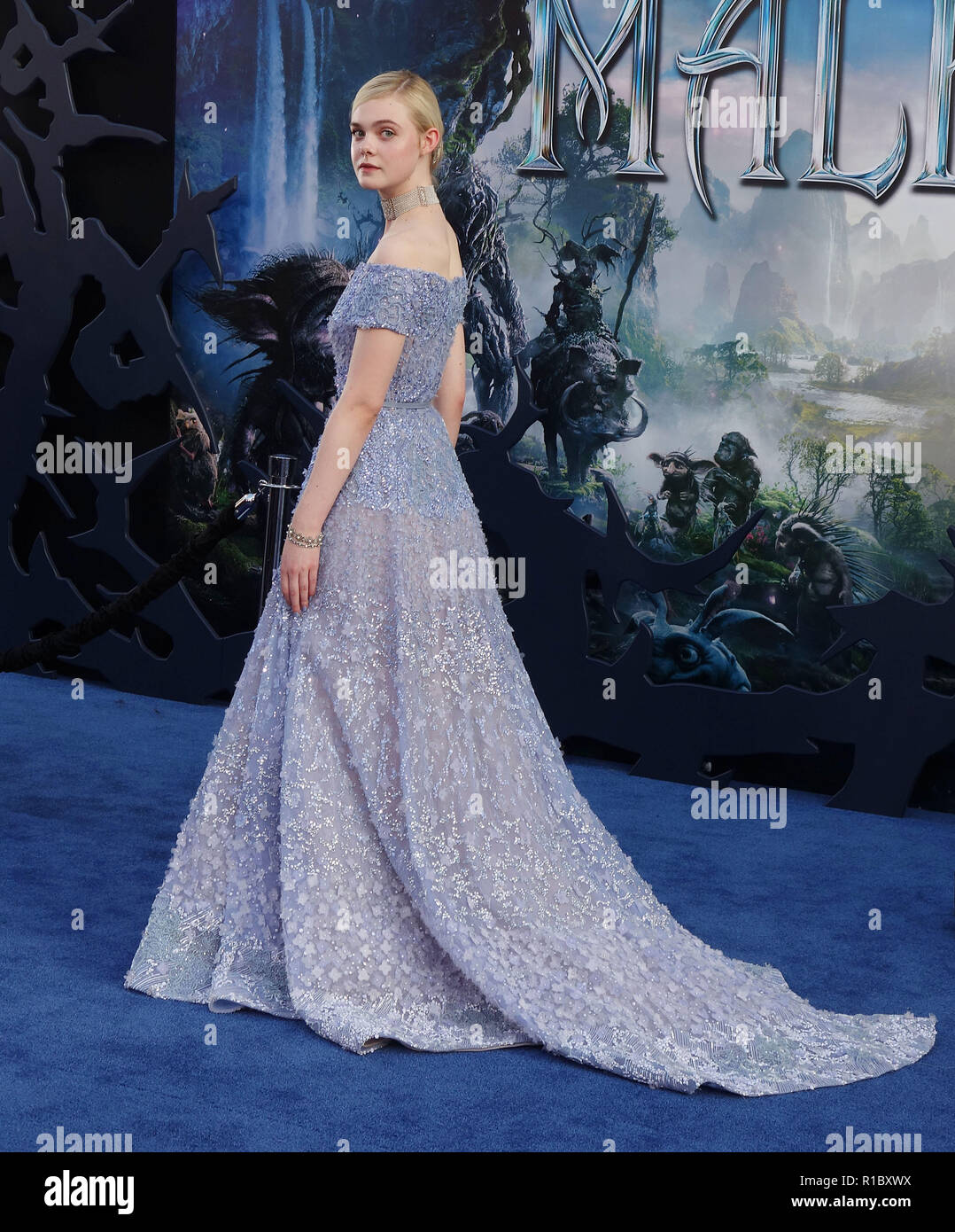 Elle Fanning 178 At The Maleficent Premiere At The El