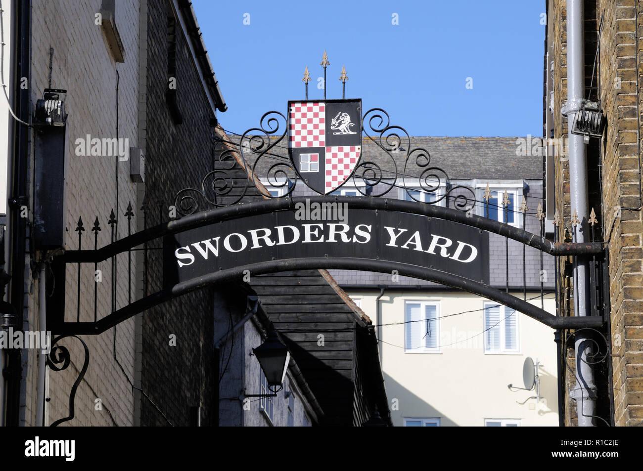 Sworders Yard, Bishops Stortford, Hertfordshire Stock Photo