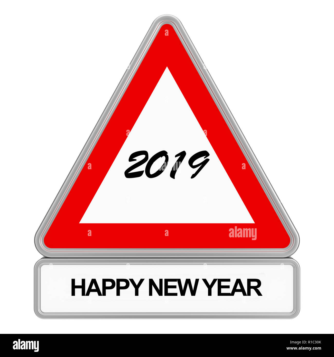 2019 Road sign - Stock Image
