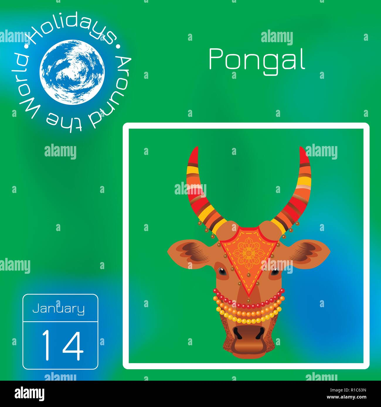 Atu Calendar.Maatu Pongal Hindu Harvest Festival In India And Sri Lanka The