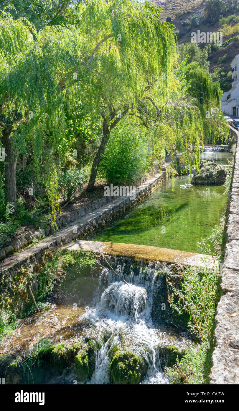 A beautiful tranquil river scene taken on a visit to Cazorla, Spain - Stock Image
