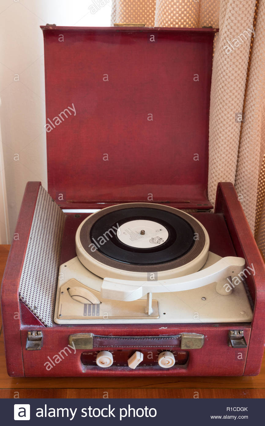 A vintage record player Stock Photo