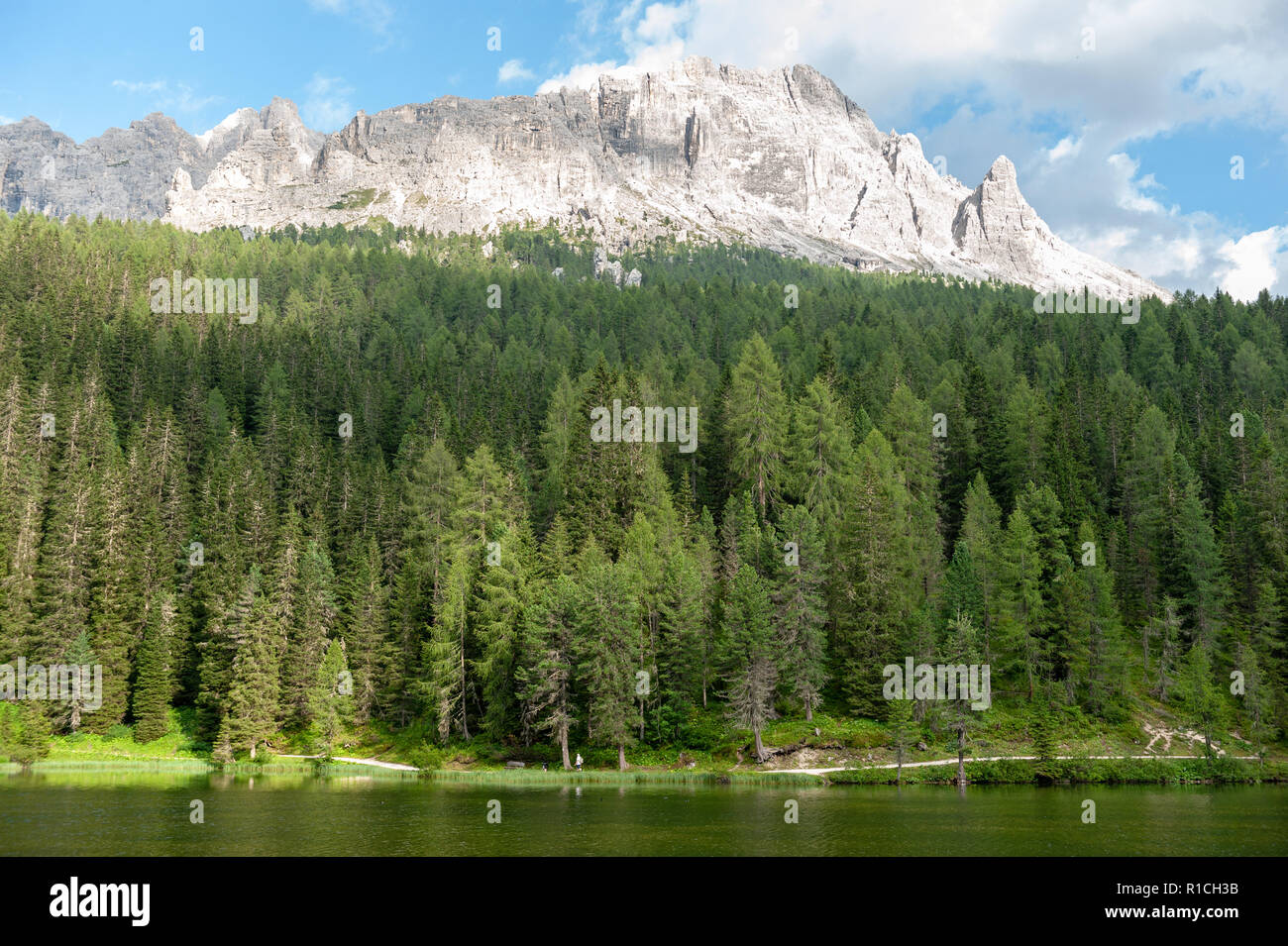 Lago Misurina in the Italian Dolomites - Stock Image