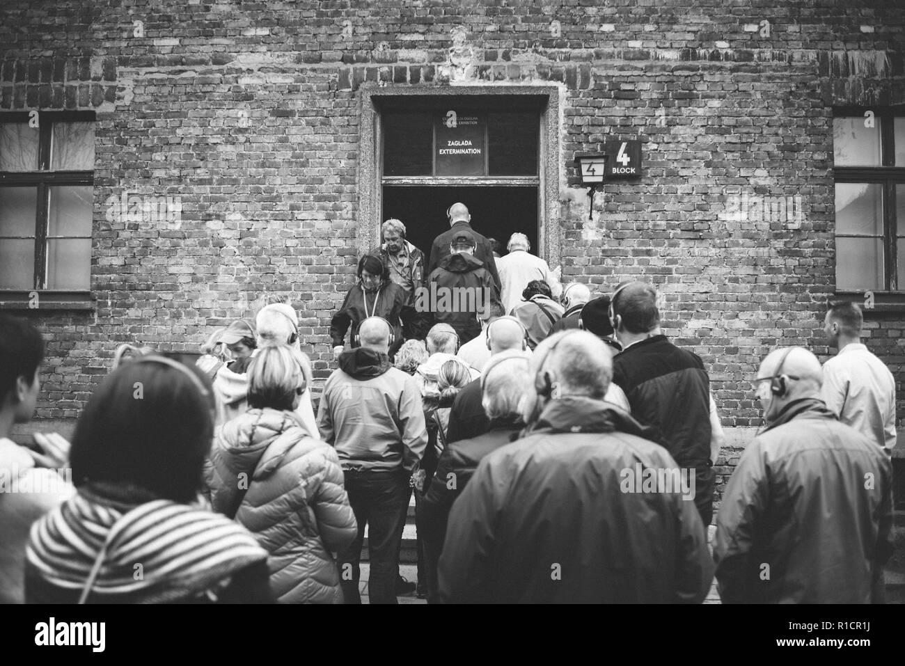 Auschwitz Nazi concentration and extermination camp. Auschwitz, German-occupied, Poland, Europe - Stock Image