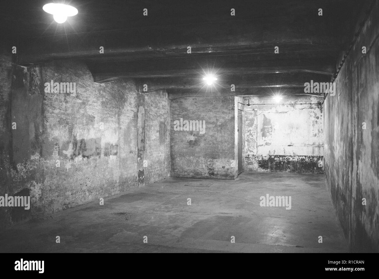 Auschwitz Nazi concentration and extermination camp. Gas chamber. Auschwitz, German-occupied, Poland, Europe - Stock Image
