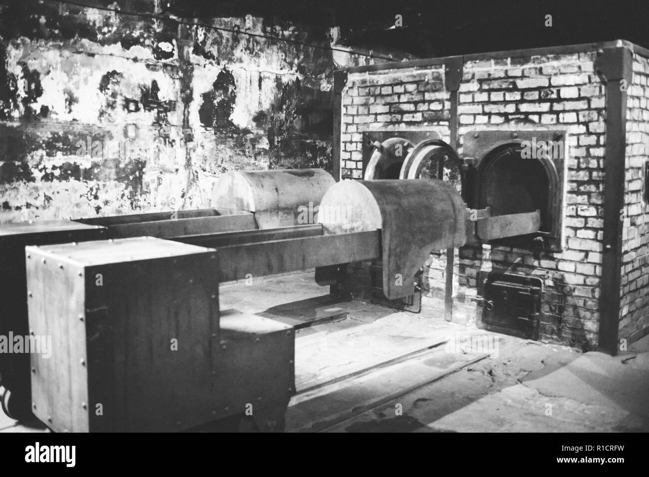 Auschwitz Nazi concentration and extermination camp. Crematory oven at Auschwitz. Auschwitz, German-occupied, Poland, Europe Stock Photo - Alamy