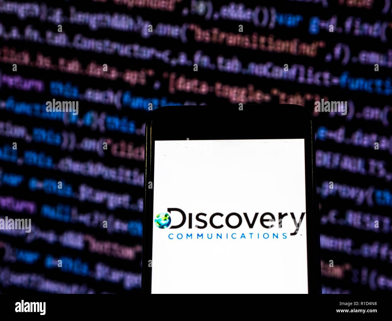 Discovery Communications Mass Media Company Logo Seen