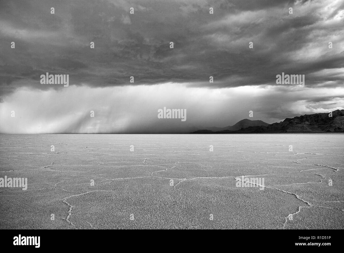Bonneville salt flats, Utah, USA Stock Photo