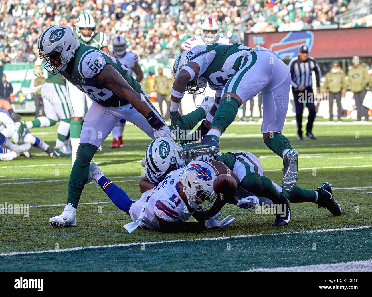 East Rutherford, New Jersey, USA. 11th Nov, 2018. Buffalo Bills wide