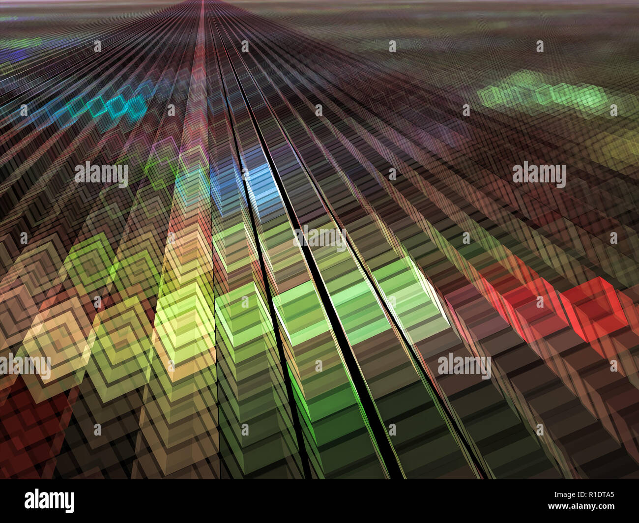 Colored Cubes Background Abstract Computer Generated Image