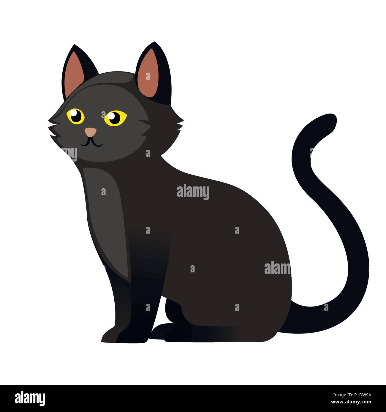 Sitting Black Cat With Yellow Eyes Cute Home Animal Cartoon Character Design Flat Vector Illustration Isolated On White Background Stock Vector Image Art Alamy Well you're in luck, because here. https www alamy com sitting black cat with yellow eyes cute home animal cartoon character design flat vector illustration isolated on white background image224654678 html