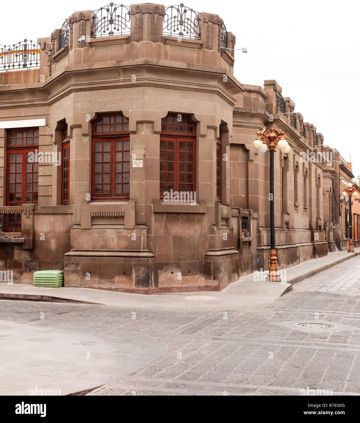Old House in San Luis Potosi - Stock Image