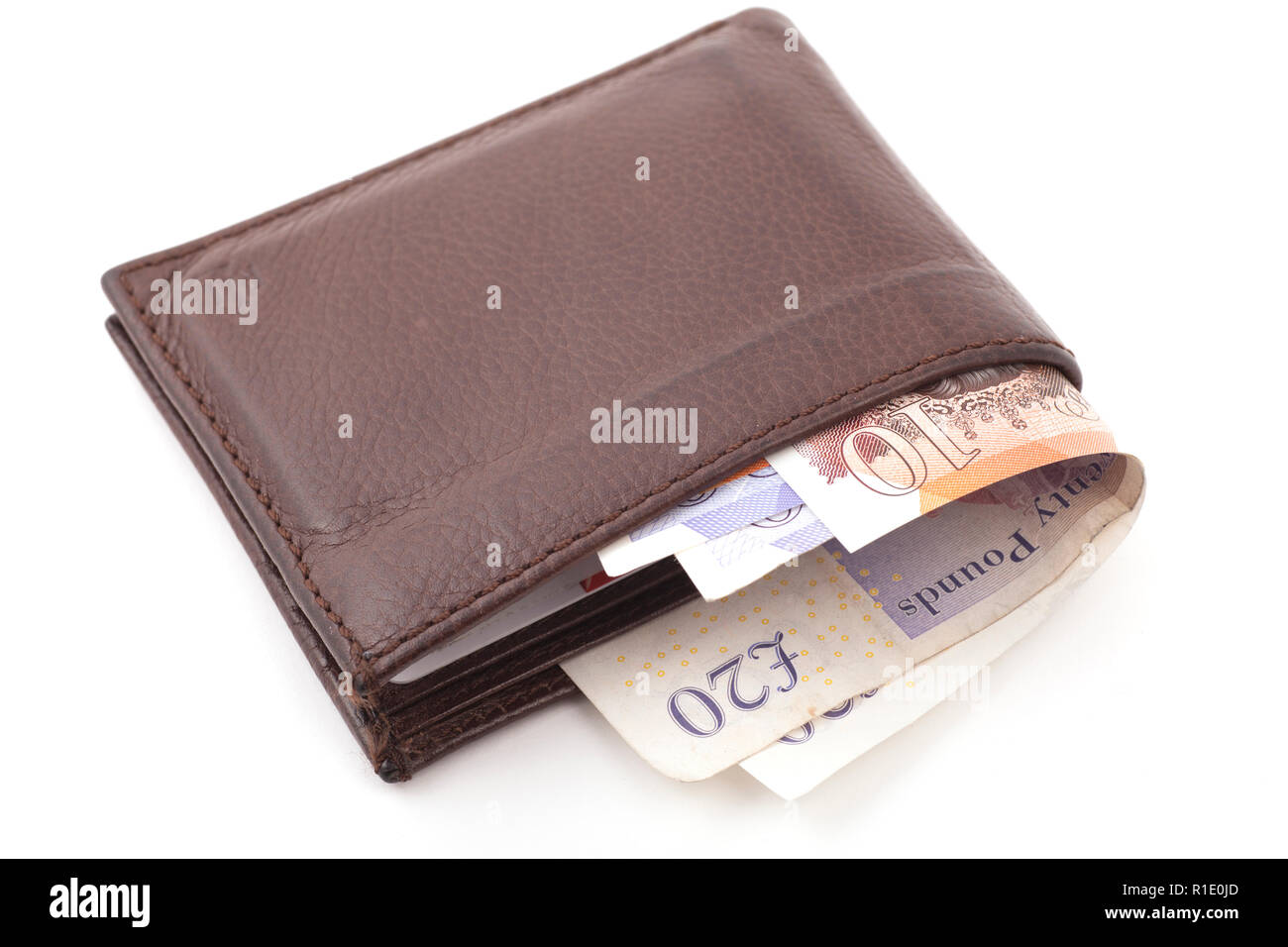 Wallet full of money - Stock Image