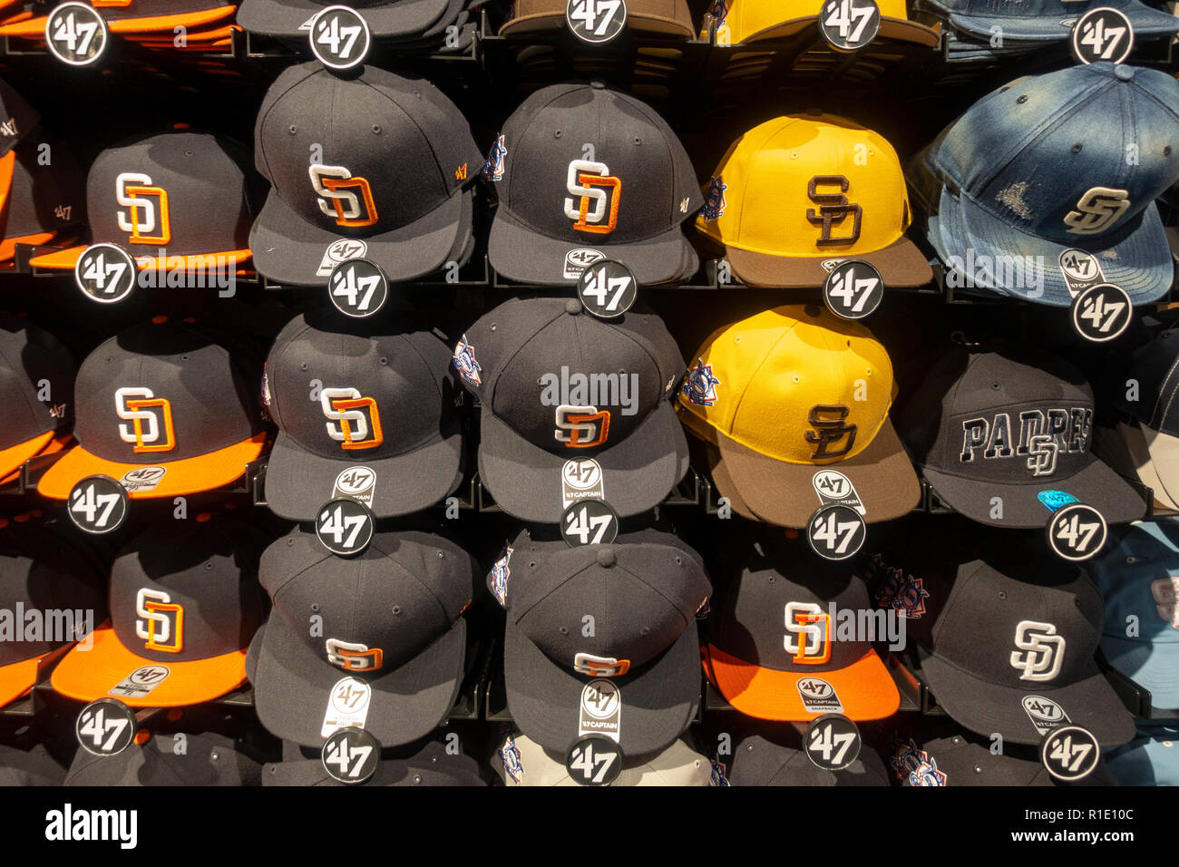 Baseball Hats Shop Stock Photos   Baseball Hats Shop Stock Images ... 097ed187525d