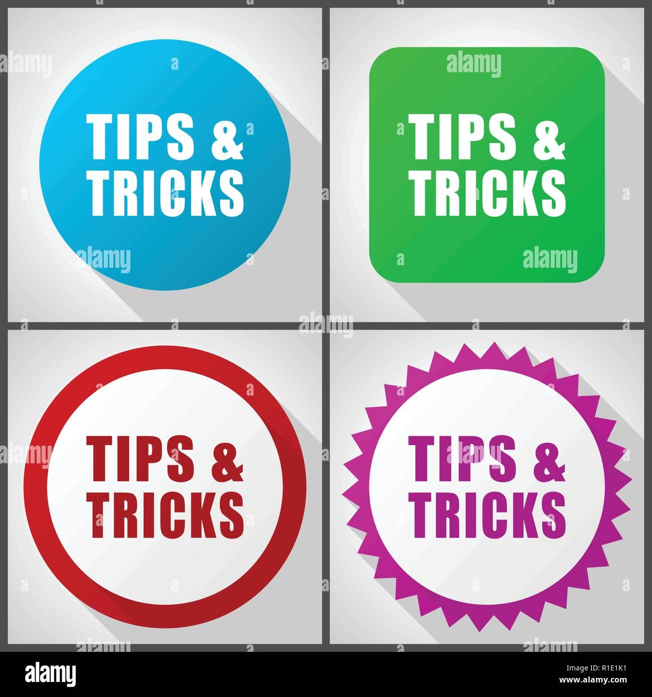 Designer Tips And Tricks For: Tips Tricks Icon Flat Icon Stock Photos & Tips Tricks Icon