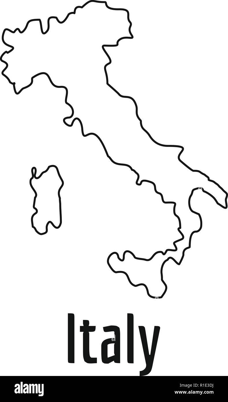 Italy Map Black And White.Italy Map Black And White Stock Photos Images Alamy