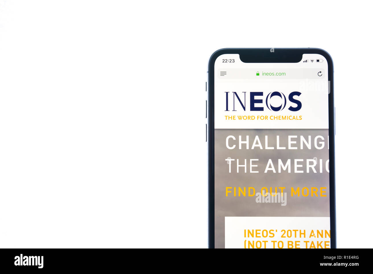 SOLOTHURN, SWITZERLAND - NOVEMBER 11, 2018: Ineos logo displayed on a modern smartphone - Stock Image