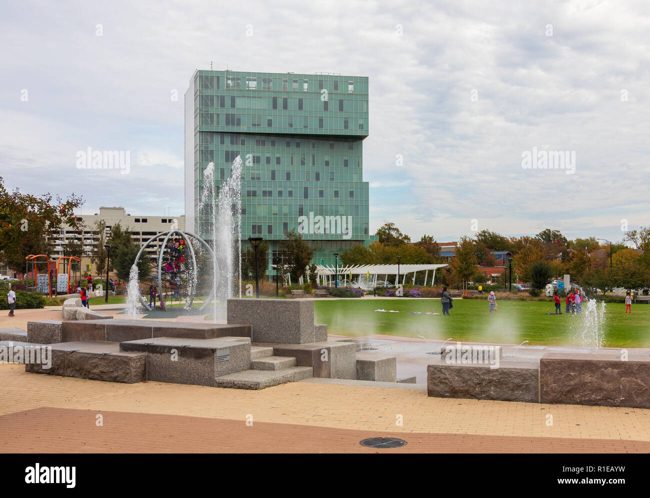 CHARLOTTE, NC, USA-11/08/18: The First Ward Park includes spacious playgrounds. - Stock Image