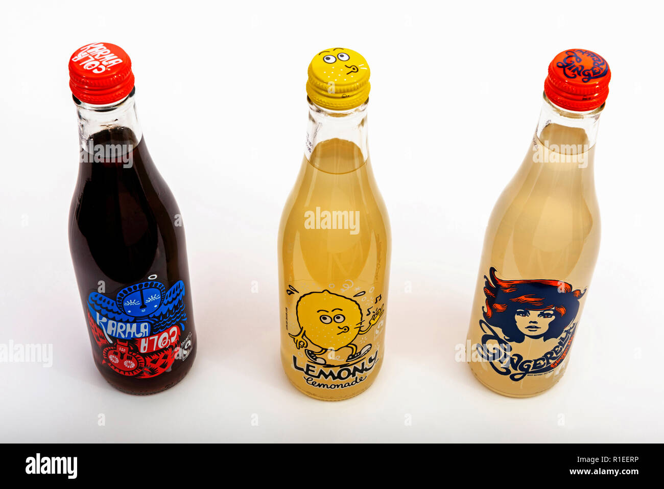 Carbonated soft drinks - Stock Image