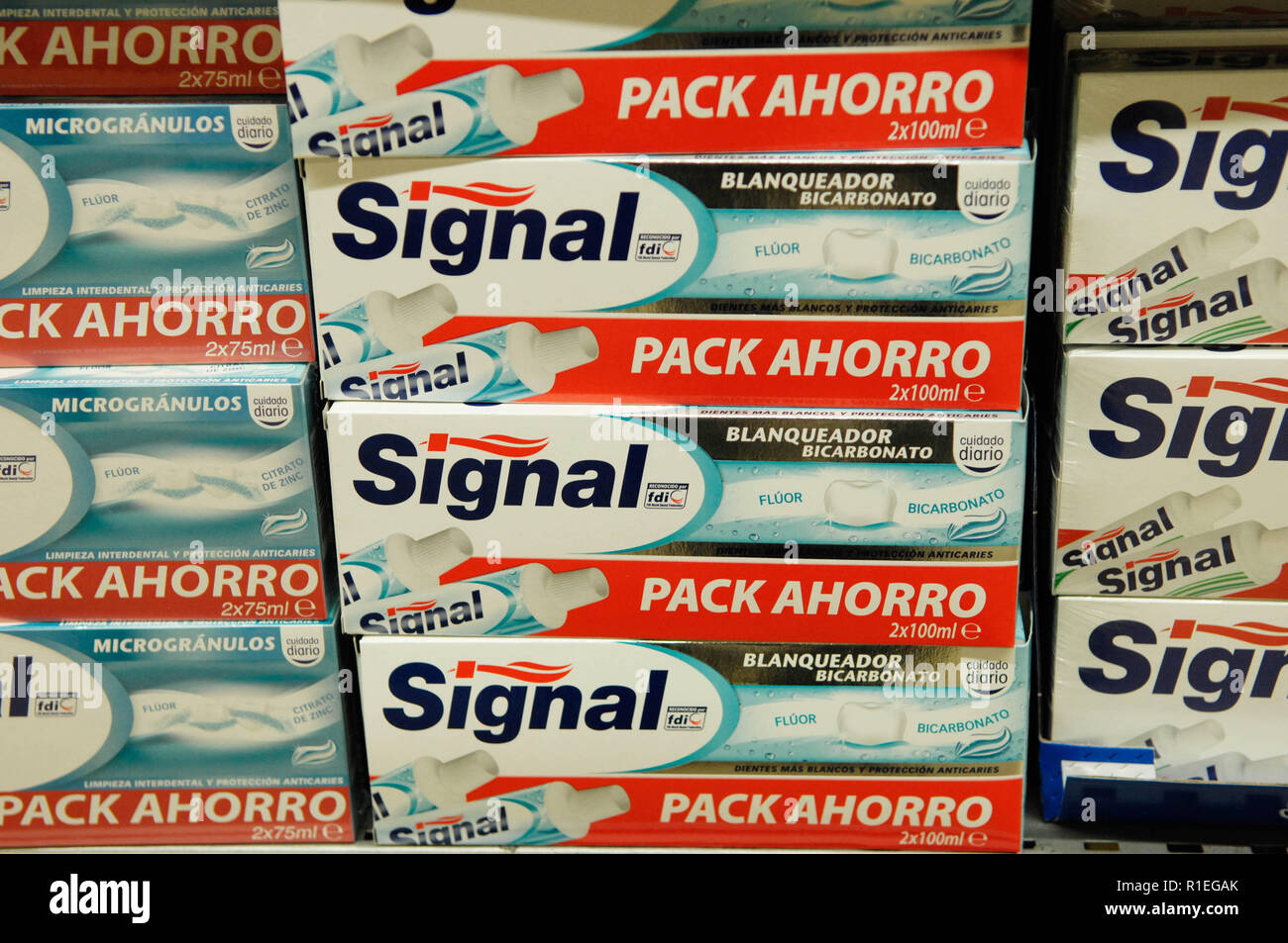 Signal,toothpaste - Stock Image