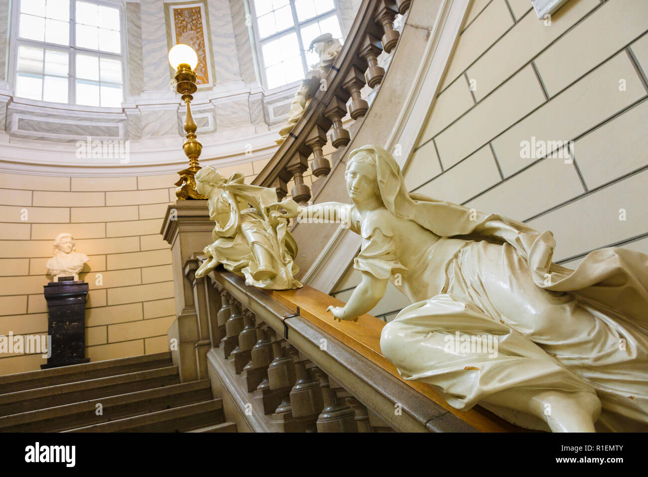 Staircase. National Museum of Slovenia. Ljubljana. Slovenia, Europe - Stock Image