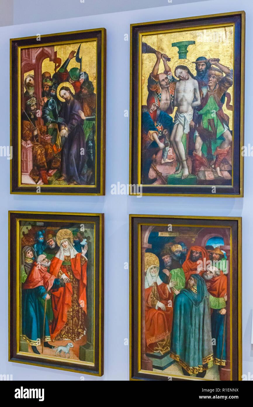 Work of art. National Gallery of Slovenia. Ljubljana. Slovenia, Europe. - Stock Image