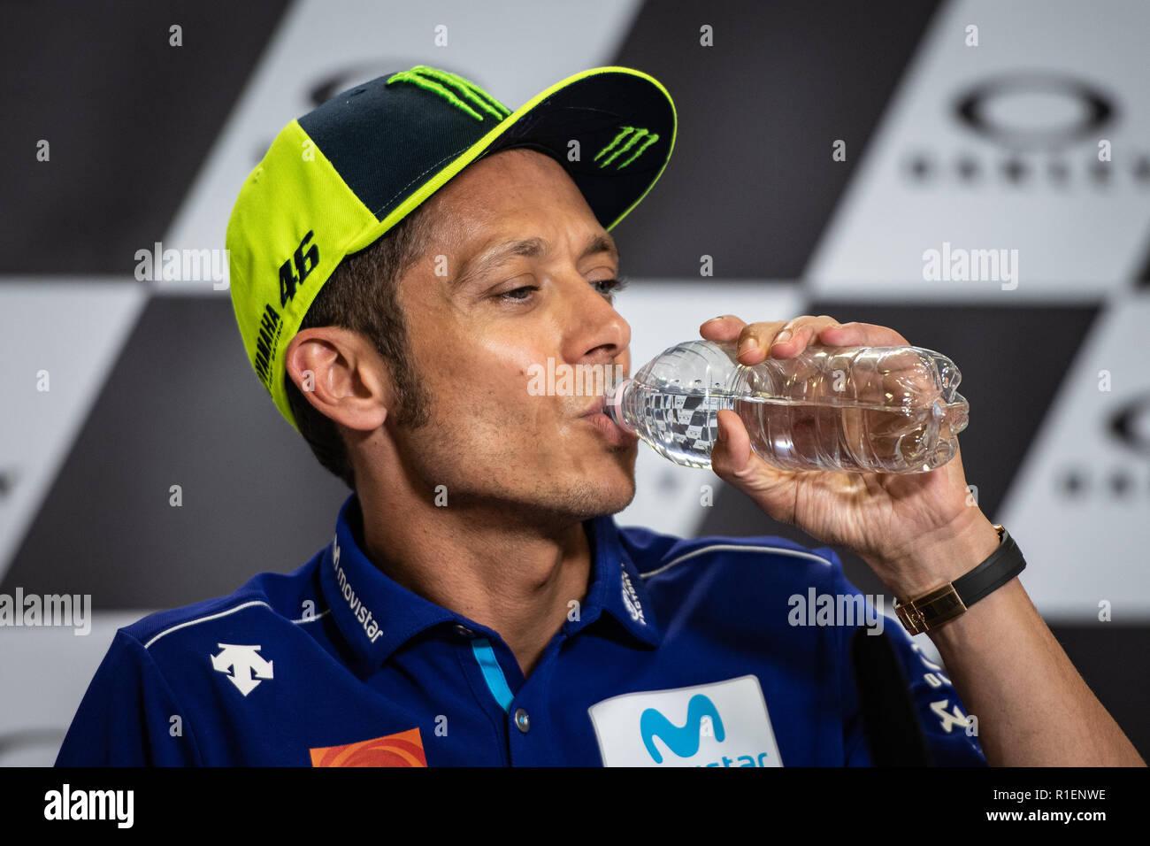 Valentino Rossi during Thursday Press Conference in Mugello Stock Photo