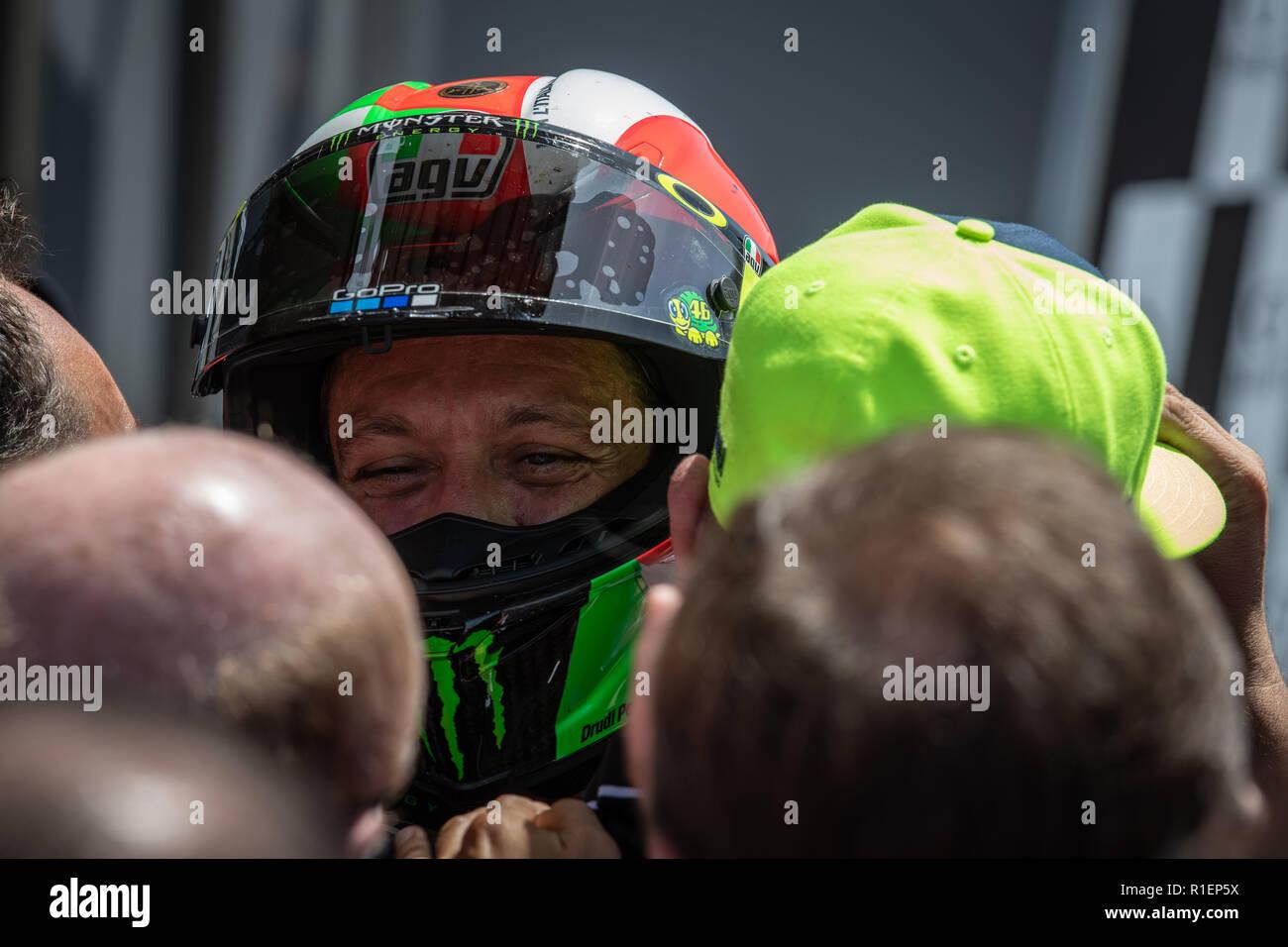 Valentino Rossi after MotoGP race in Mugello Stock Photo
