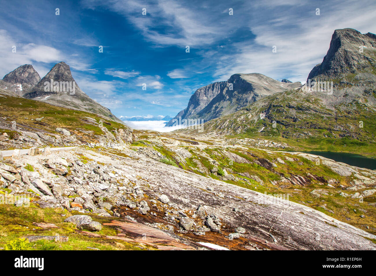 Trollstigen (Troll's road) in Norway - Stock Image