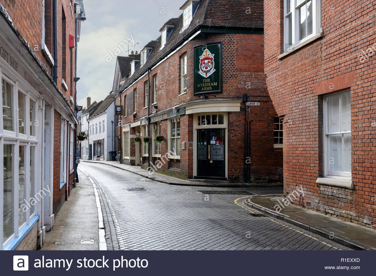 The Wykeham Arms pub, Winchester, Hampshire, England, UK - Stock Image