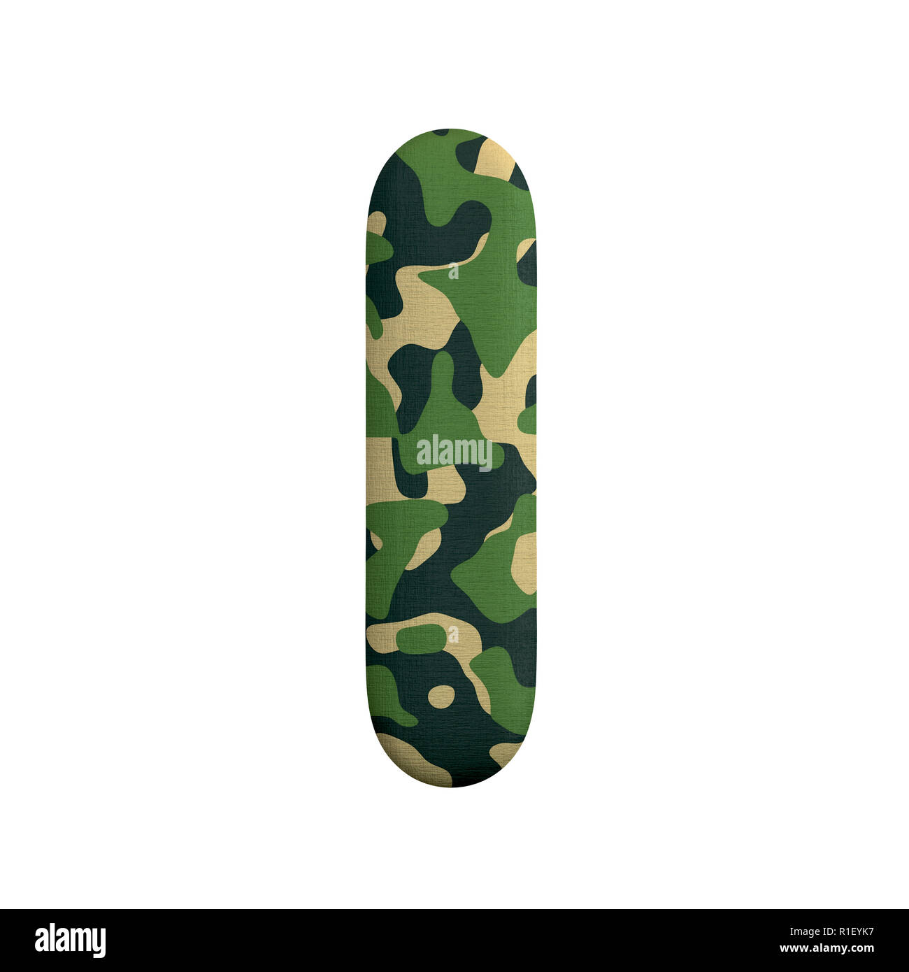 Small 3d Camo Font Isolated On White