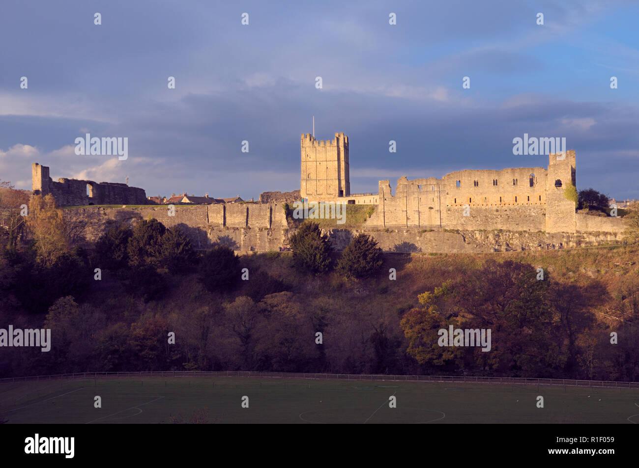 Richmond Castle, North Yorkshire, England, UK - Stock Image
